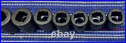 Snap-On 214IMFMYA 14 Pc. 3/8 Drive 6Pt. Metric Flank Shallow Impact Socket Set