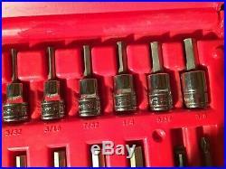 Snap On 236EFSET 1/4 & 3/8 Drive Hex & Torx Socket Driver Set (Very Nice)