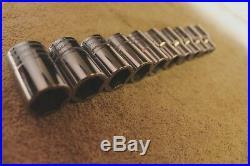 Snap On 310twmya 10-19mm 1/2'' Drive 10pc Metric Shallow Socket Set