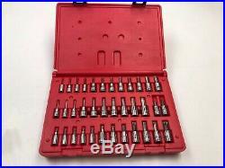 Snap-On 36 pc Torx Metric/SAE Hex Driver Bit Socket Set PB161 236EFSET 1/4 3/8