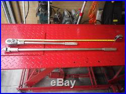 Snap On 3/4 drive Ratchet and Knuckle bar interchanchable, 2 foot and 3 foot bar