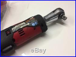 Snap On 3/8 Dr Red Lithium Cordless Battery Ratchet CTREU761 New Charger