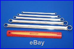 Snap-On 5 Pc Standard 0° Offset SAE Box Wrench Set XDHF605 NEAR NEW SHIPS FREE
