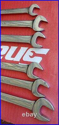 Snap On 6 Pc Metric 12 Pt Flex Head/Open End Combination Wrench Set FHOM606B