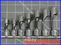 Snap On 7Pc Metric 3/8 Dr Flare Nut Socket Set 10MM 12 14 16 19MM FRXM FRXM19