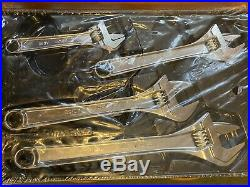 Snap On Adjustable Wrench Set, 4 Pc, Never Used