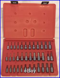 Snap On Allen Hex Key & Torx 1/4 & 3/8 Socket Set