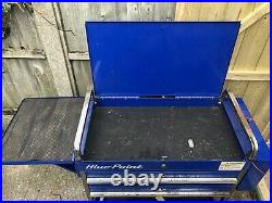 Snap On Blue Point Service Trolly With Shelf And Screwdriver Prybar Holder