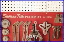 Snap On CJ1000ES Puller Set Wood Board Organizer Very Good Condition USA