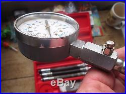 Snap On Compression Gauge Set Made In USA Mt308 Kb