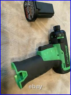 Snap On Cts661g, Green Cordless Screwdriver, 1 Battery. No Charger