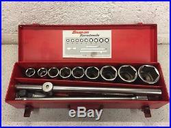 Snap On ETRM713EB 3/4 6 Point Socket Set Metric Size 22-50mm Extension Ratchet