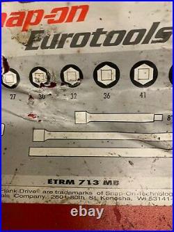 Snap-On Eurotools ETRM713MB 3/4 Drive Socket Set Ratchet