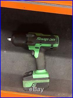 Snap On Green 18v 1/2 Impact Wrench Gun Model CTEU7850G 1 Battery 4ah Monster