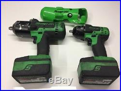 Snap On Green 18v Lithium Cordless Impact Wrenches 1/2 & 3/8 4ah Latest Model