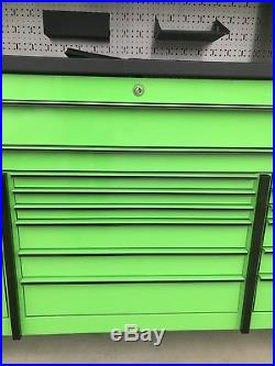 Snap On KRL 73 tool box USA Roll Cab With Hutch Tool Chest Extreme Green