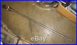 Snap-On L72T 3/4 Drive Ratchet Head & L72RL 36 Knurled Grip Locking Handle