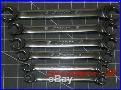 Snap On Metric Flare Nut Line Wrench 6Pc Set 9MM 21MM RXFMS RXFMS911B 6Pt NICE