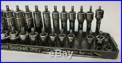 Snap On STMM / Mac Tools 1/4 6pt Metric Socket Set Lot 24pc Deep & Shallow R91