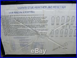 Snap On Stud Puller/Resetter Set CG515B CG500 FREE Shipping $595.00 List Price