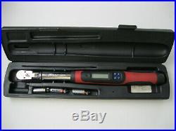 Snap On TECH 2FR100 Flex Head Digital Torque Wrench 3/8 Drive 5/100 ft/lbs