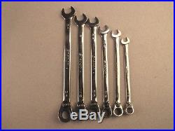Snap On Tools 12 Point SAE Combination Ratcheting Wrench SOEXR 6pc Set