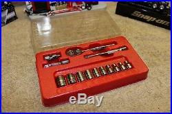 Snap On Tools 14Pc 1/4Dr Std/SAE 6Pt Shallow General Service Socket Set 114ATMP