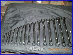 Snap-On Tools 16 Piece Jumbo Metric Combination Wrench Set 6mm 32mm