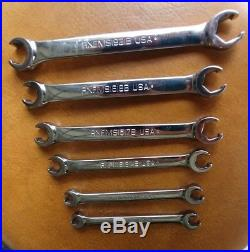 Snap On Tools 6 Pc Metric Double Flare Nut/Line Wrench Set RXFMS606B Ships Free