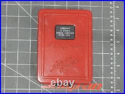 Snap On Tools 8Pc Solid Carbide Burr Set VWB800B Metal Box Air Grinder Metal Box