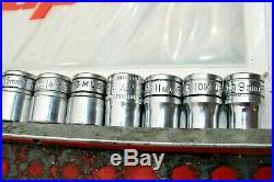 Snap On Tools Metric 3/8 Dr Socket Set