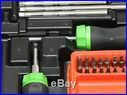 Snap On Tools Ratcheting Screwdriver Set SGDMRC108AG Green Case NICE