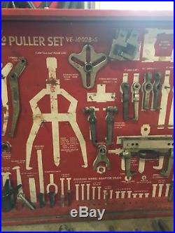 Snap-On VE-1002B-S Puller Partial Set, Heavy Duty, Tool Board and Cabinet