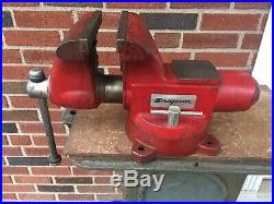 Snap-On Wilton 8 Bench Vise Model 1780 Swivel Base & Pipe Jaws Made in USA