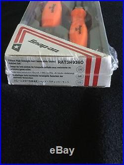 Snap On new 3 pc Ratchet set Orange handles