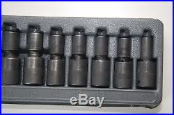 Snap-on 1/2 Dr. Metric Impact Swivel Socket Set Shallow 6-Point 12 Pc. 312IPLM