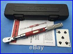 Snap on 1/4 drive 12-240 inch pound TechAngle micro torque wrench 2017 $620
