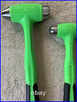 Snap on 3pc green hammer set, never used