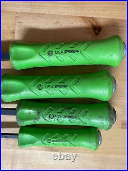 Snap-on 4pc Green striking pry bar set SPBS704AG