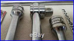 Snap-on 5-pc. 1/2 Drive Ratchet Flex-Head Breaker Bar T-Handle Extensions 1957