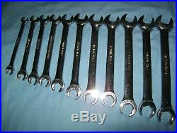 Snap-on 8 to 19 mm 6-point Flare Nut Open End Line Tubing Wrench Set RXSM8 to 19