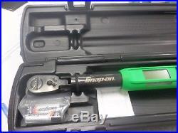 Snap-on ATECH2F100VG 3/8 Drive Flex-Head TechAngle Torque Wrench Green