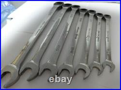 Snap-on Reversible Ratcheting Combination Wrench Set 7 pc 12-Pt SAE Flank Drive