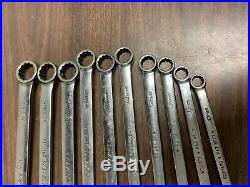 Snap-on Tools 10 Pc Metric Flank drive Combination Wrench Set SOEXM710 10mm-19mm