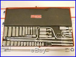 Snap-on Tools 3/8 Drive Ratchet And SAE Socket Set Lot VTG USA