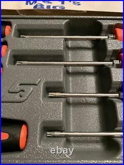 Snap-on Tools 9 pc TORX Instinct Soft Grip Orange Screwdriver Set SGDTX90BO