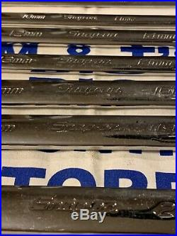 Snap-on Tools 9pc Metric Long High Performance Box Wrench Set 8mm-24mm XDHFM