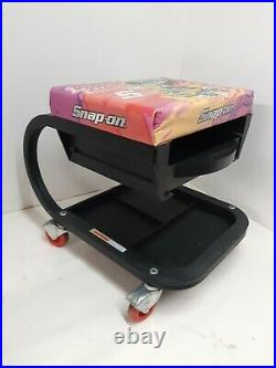 Snap on Tools RARE PINKZILLA PINK CREEPER SEAT WITH STORAGE TRAY LIMITED SNAP-ON