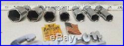 Snap-on USA 207FSU SAE 7-pc 3/8 Drive 6-Point Deep Universal Swivel Socket Set