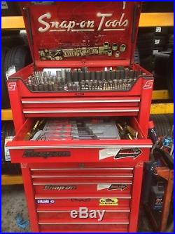 Snap on box with tools